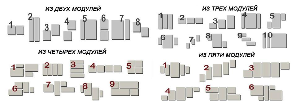 примеры сегментации модульных картин